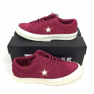 NEW Converse One Star Ox Suede Shoes Sneakers Red